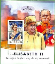 A0452 - DJIBOUTI - ERROR MISSPERF stamp SHEET - 2016 Royalty  QUEEN ELISABETH II