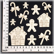 Chipboard Embellishments for Scrapbooking, Cardmaking - Christmas Shapes 15145W