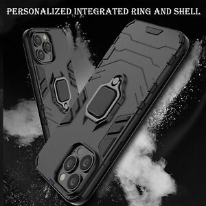 Case For iPhone 11 12  Pro Max XR X 8 7 Shockproof Rugged 360 Ring Stand Cover