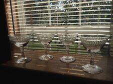 Set of 4 vintage crystal  Fostoria Laurel Leaf champagne wine glasses