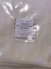 Restoration Hardware Opaque Belgian Linen Drapery 50x108L Natural White New