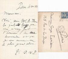 ✒ [Ambroise THOMAS & Mignon] L.A.S Gaston SALVAYRE compositeur prix de Rome 1872