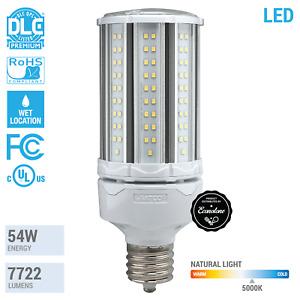LED HID Replacement Corncob 100-277V 54W Watt 300W EX39 50K 5000 Natural Light