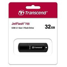 Transcend JetFlash 700 USB Stick 32GB USB 3.1 Memory Stick Flash Drive