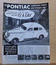 1937 magazine ad for Pontiac - Bigger Car Better Value, Silver Streak