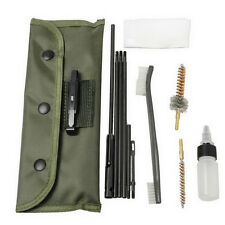 A SET .22 22LR .223 556 Rifle Gun Cleaning Kit Set Cleaning Rod Nylon Brush N NG