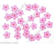 50 bijoux d'Ongles Tranches de Fimo slices Fleurs Etoiles Rose Nail Art flower