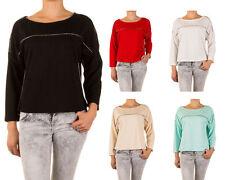 Markenlose taillenlange Damen-Pullover