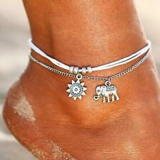Layer Anklet Boho Pendent Double