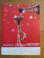 PUBLICITE ANCIENNE PUB ADVERT - Champagne Mercier dos cours des ventes