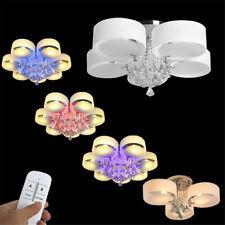 Kristall LED Hängeleuchte Modern Kronleuchter Design RGB Deckenlampe Leuchte Neu