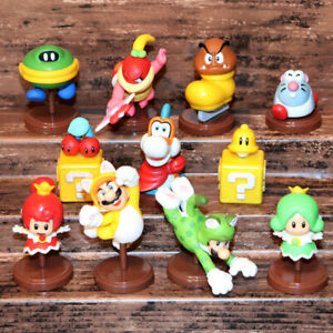 CHOCO EGG SUPER MARIO 3D World Figures Set of 11p Cat NIntendo Miniature Switch