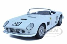 FERRARI 250 CALIFORNIA SWB LM 1969 WHITE #20 1/18 ELITE CAR BY HOTWHEELS T6931