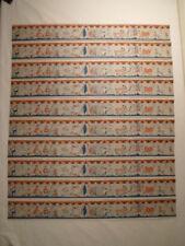 10x alte Bordüre Tapete Puppenstube 1920-50 50 cm hell