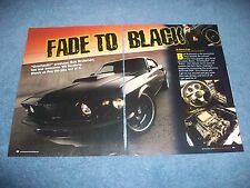 """1969 Ford Mustang Fastback RestoMod Article """"Fade to Black"""" SportsRoof"""