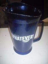 Bud Light Bar Draft Pitcher, Budweiser Beer Clear Blue Plastic Pitcher