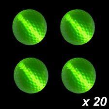 Glow Golf Balls Green x 20