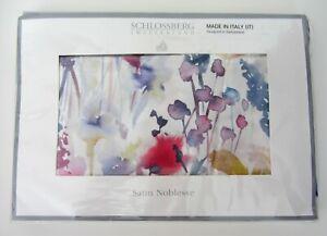Schlossberg Satin Noblesse Ida Blanc KING Flanged Sham 100% Cotton NEW