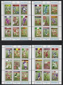 1998 Bosnia & Herzegovina (Serb) Scott #68-71 - World Cup Souvenir Sheets - MNH