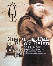 QUEEN LATIFAH 1993 promo ADVERT BLACK REIGN flavor motown