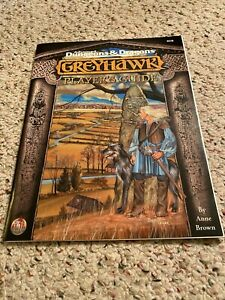GREYHAWK PLAYERS GUIDE W/ MAP TSR 9578 AD&D DUNGEONS & DRAGONS BOOK COMPLETE NEW