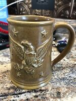Vintage Chatham Potters TANKARD Mug AMERICAN BALD EAGLE & STARS  Pottery