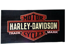 Harley Davidson Motorcycle Beach Bath Towel 30x60 Trade Mark