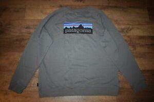 Patagonia Men's P-6 Logo Organic Crew Sweatshirt 39603 Size XXL (Noble Grey) NWT
