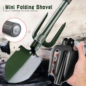 Folding Spade Shovel Rake Saw Military Tactical Emergency Survival