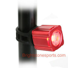 XECCON 10 Lumen 360 Rotate Red LED Tail Bike Light USB Rechargeable only 1.6oz