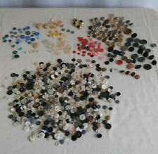 New listing Vintage Buttons Lot Cloth Leather Plastic Metal 250+ Crafts Repurpose Variety