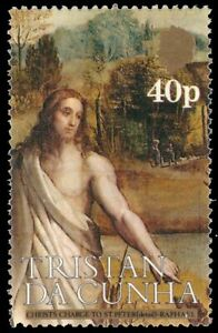 """TRISTAN da CUNHA 346 (SG363) - """"Christ's Charge to St. Peter"""" by Raphael (pa9400"""