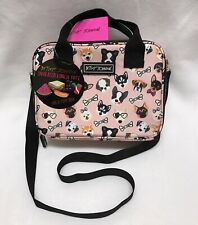 Betsey Johnson Puppy Dogs Insulated Lunch Tote Bag Multi BRAND