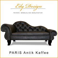 Sofá para perro Chesterfield RECáMARA PARIS XXL ANTIGUO Café CAMA chaiselongues