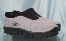 Funky SALOMON Light Blue Suede Loafers Mocassins US 7.5 UK 6 EUR 39.5
