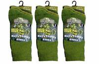 6 pairs Men's Thermal Socks Blend Military Work Boot thermal Winter Socks 6-11