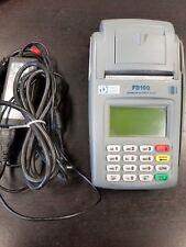 First Data Fd-100 Credit Card Machine Terminal Reader +Ac Power Adapter.