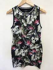 Topshop Womens Floral Print Bodycon Casual Sleeveless Dress Summer Size 10 UK