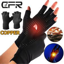 Copper Arthritis Gloves Compression Fit Carpal Tunnel Hand Wrist Brace Support