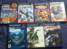 Ps2 Games Bundle 7 Games Need For Speed Carbon Buzz Metal Gear Solid 3