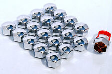 20 x wheel bolts nuts lugs push on caps 19mm Hex covers Chrome