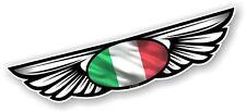 Winged Wing Emblem & Italy Italian Flag for Motorcycle Helmet Vinyl Car sticker