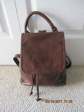I MEDICI FIRENZE MADE   IN ITALY WHISKEY BROWN LEATHER BACKPACK BAG