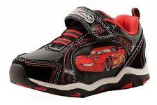 Disney Pixar Cars Toddler Boy's Black/Red Fashion Light Up Sneakers Shoes Sz: 7