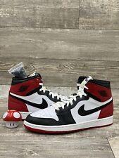Nike Air Jordan 1 Retro High OG Red Black Toe White 2013 Bred One 555088-184 13
