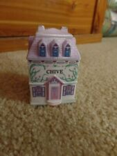 The Lenox Spice Village Fine Porcelain Spice Jar Chive 1989 Replacement