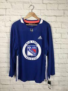 NEW Adidas NHL New York Rangers Hockey Practice Jersey Size 50