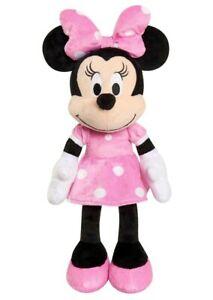 """Disney Store Minnie Mouse Classic Vintage Pink Dress BIG Plush Toy Doll 19"""" NWT"""
