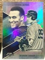DEREK JETER & AARON JUDGE YANKEES 2019 TOPPS FIRE BLUE CHIP LASTING LEGACIES SP