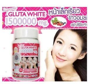 SUPREME GLUTA WHITE 1500000 mg Anti Aging face V Shape 30 Softgels